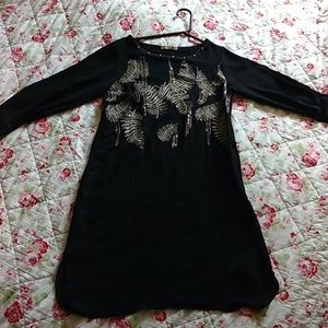 Fabrizio silk black dress